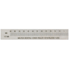 "Miltex Endo Ruler 3"" w/out Clip Right-Handed, Stainless Steel"