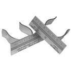 Miltex Stainless Steel Right-Handed Finger Ruler, single ruler