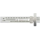 "Miltex Endo Ruler 3"" with Clip Right-Handed, Stainless Steel"