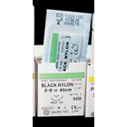"Reli 5/0, 18"" Black Nylon Sutures with C-17 precision point reverse-cutting"