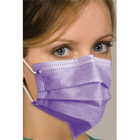 Breathe E-Z Pleated Earloop Mask - Lavender, 50/Bx. Level 1. Fluid Resistant