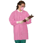 Defend Plus Pink - Large Full Length Lab Coats 10/Pk. Provide comfort