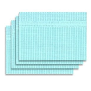 "Defend Patient Bibs BLUE 13"" x 18"" 3-Ply Tissue/1"