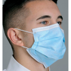Defend Level 2 Dual Fit Pleated Ear-Loop Face Mask, BLUE 50/BX. Form-fitting