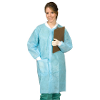 Defend Lab Coat - MEDIUM, Blue 10/Pk. Unisex, Knee-Length (Full Length)