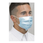 Defend Level 3 Pleated Earloop Mask w/Shield - BLUE 25/Bx. Attached optically