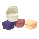 "Defend Denture Box - Assorted Colors 3"" x 2-1/2"" x 2"" deep, 12/Pk. High-impact"