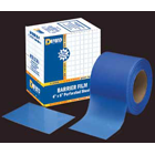 "Defend 4"" x 6"" Blue Barrier Film in Dispenser Box with a low tack adhesive"