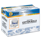 "Defend #2 Medium (1.5"" x 3/8"") Non-Sterile Plain Wrapped Cotton"