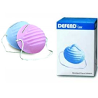 Defend Blue Economy Cone Face Mask 50/Bx. Fiberglass-Free with Latex-Free