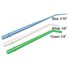 "Defend 1/8"" WHITE Surgical Aspirating Tips, Molded at 30 degree angle"