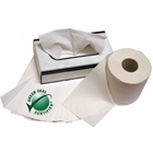 Defend 2-ply toilet tissue, 500 sheets per roll. Green Seal Certified 100% recycled paper products