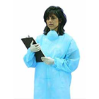 Defend Blue Full Length, Fluid-Resistant Tie Back Protective Gowns
