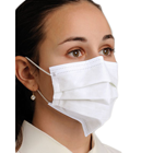 Defend Level 3 Dual Fit Pleated Ear-Loop Face Mask, WHITE 50/BX. Form-fitting