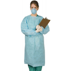 Nivo Isolation Gown with Knitt Cuff - Blue, OSFA, 50/pack