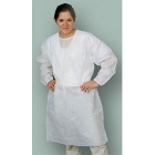 Nivo Isolation Gown with Knitt Cuff - White, OSFA, 50/pack