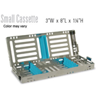 Nordent Sterilization Cassette, Stainless Steel, Easy-open, Side Spring Latches