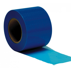 "ODS 4"" x 6"" Blue Barrier Film with a low tack adh"