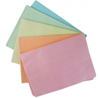 "ODS Yellow Plain Rectangle bib (13"" x 18"") 2 ply Paper/1 ply Poly Patient Bib"
