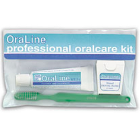 Oraline Adult oral care kit, Includes: 0.85 oz Toothpaste, OraDent Clear