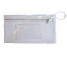 Oraline Clear Deluxe Dental Bag, 100/Pk. Zippered Bag with Pocket. Clear Vinyl