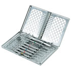 Osung Dental Instrument Cassette with lid, EFECAL-01. Made of stainless steel