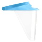 iVisor Visor and Shield Kit with Blue Visor. Contains:1 Visor and 3 Shields