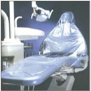 Pac-Dent Slip & Grip Full Chair Sleeves, Clear Pl