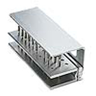 Pac-Dent 30-Hole Aluminum Bur Block. Holds 20 FG and 10 RA burs. Measures 1