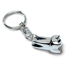 Pac-Dent Nickle plated key chain, regular tooth shape, silver color