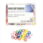Pac-Dent Silicone Instrument Code Rings - Large, Assorted Colors, Box of 120