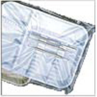 "Pac-Dent Disposable B tray sleeves, clear plastic, 10.5"" x 14"", box of 500"