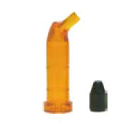 Pac-Dent Photobloc Orange high viscosity Unit Dose Tube and Black plastic Plug