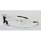 Anarchy Eyewear - Clear Frame with Black Tips/Clear Lens. 100% visually correct