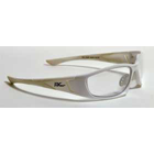 FB Eye Eyewear, White Frame/Clear Lens, Blocks up to 95% of UVA and UVB rays