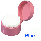 Palmero Cotton Roll Holder - Round, Blue. Base contains over 50 stainless steel