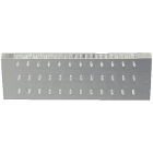 "Palmero 36-Hole FG-Type Bur Block, Clear Plexiglass, Non-autoclavable, 5"" x 2"""