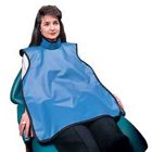 Palmero Adult ProtectAll x-ray apron with collar, Light Blue Vinyl