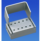Palmero 10-Hole LA Anodized Aluminum Bur Block. Holds 10 LA Burs. Can be