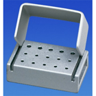 Palmero 15-Hole LA Anodized Aluminum Bur Block. Holds 15 LA Burs. Can be