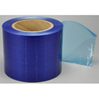"Palmero 4"" x 6"" BLUE Barrier Film in Dispenser Box, 1200 Sheets/Roll. Low-tack"