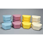 Palmero Denture Boxes in Assorted colors of Blue, Yellow, Mauve and Beige