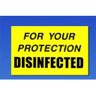 Palmero Disinfected Label, OSHA Compliance Label systems for all healthcare
