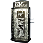 Palmero Eyewear Display. Holds 36 pairs of eyewear. Two sided rotating stand