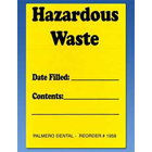 Palmero Hazardous Waste Labels, OSHA Compliance Label systems for all