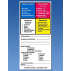 "Palmero Hazardous Material Labels, 2.25"" x 4"", OSHA Compliance Lable systems"