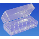Palmero 16-Hole FG-Type Clear Plexiglass Bur Block With Box, Comes in a clear