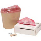 Palmero Red trash liners for mini waste receptacle, roll of 100 liners