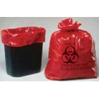 Palmero 10 gallon Infectious Waste Bags with Biohazard Waste Symbol, Box of 100