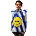 "Palmero Child ProtectAll Apron (20"" x 20"") Silk Screen Happy Face Printed on"